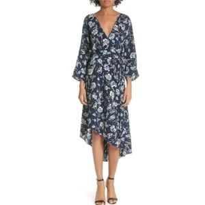 NWT DVF 100% Silk Eloise Asymmetrical Hem Dress M